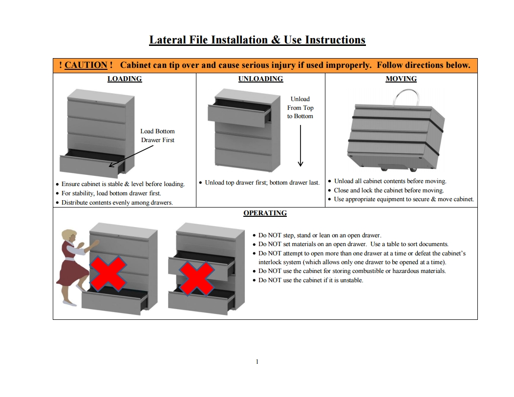 Lateral File Installation and Use Instructions thumb