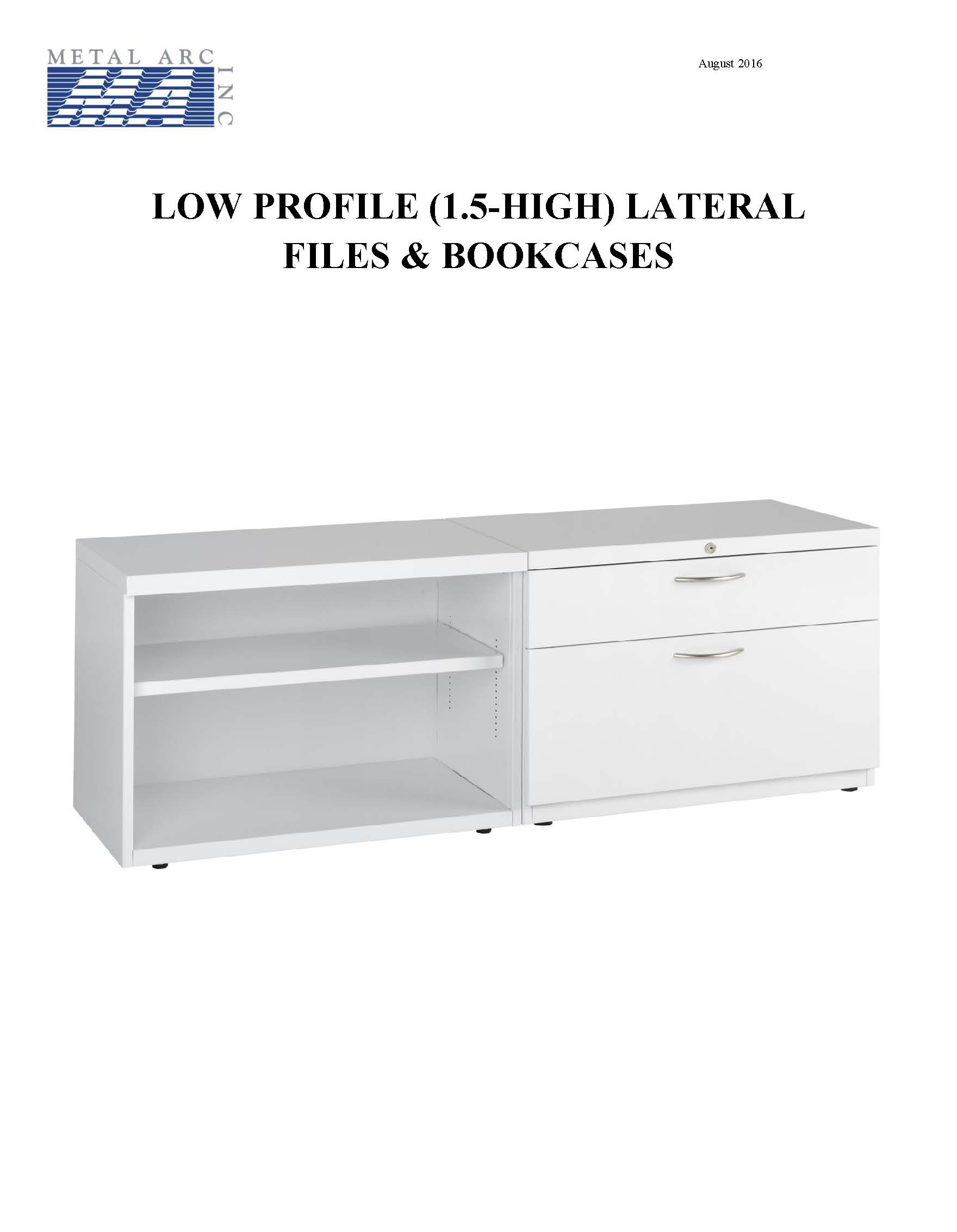 Price Sheet for 1.5h Lateral Files Bookcases Thumbnail