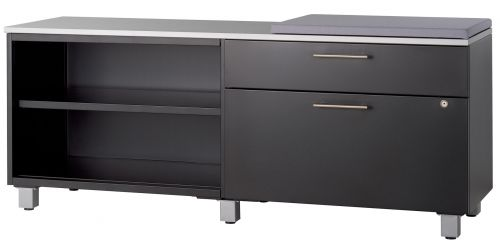AJ 60w Credenza with Sq Legs, Top and 24w Cushion